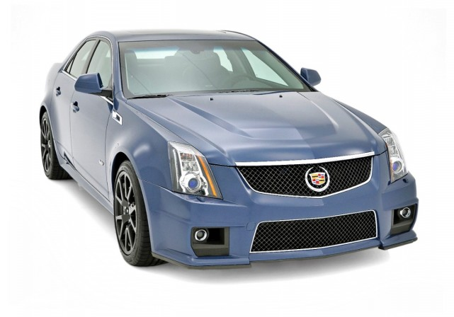 2013 Cadillac CTS-V sedan in Stealth Blue - image: GM Corp
