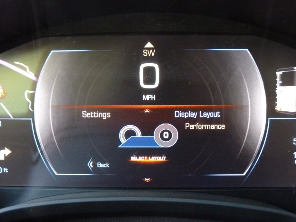 CUE interface, in 2013 Cadillac XTS