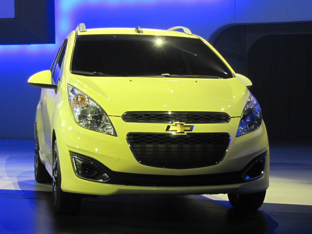 2013 Chevrolet Spark shown at Los Angeles Auto Show, Nov 2011