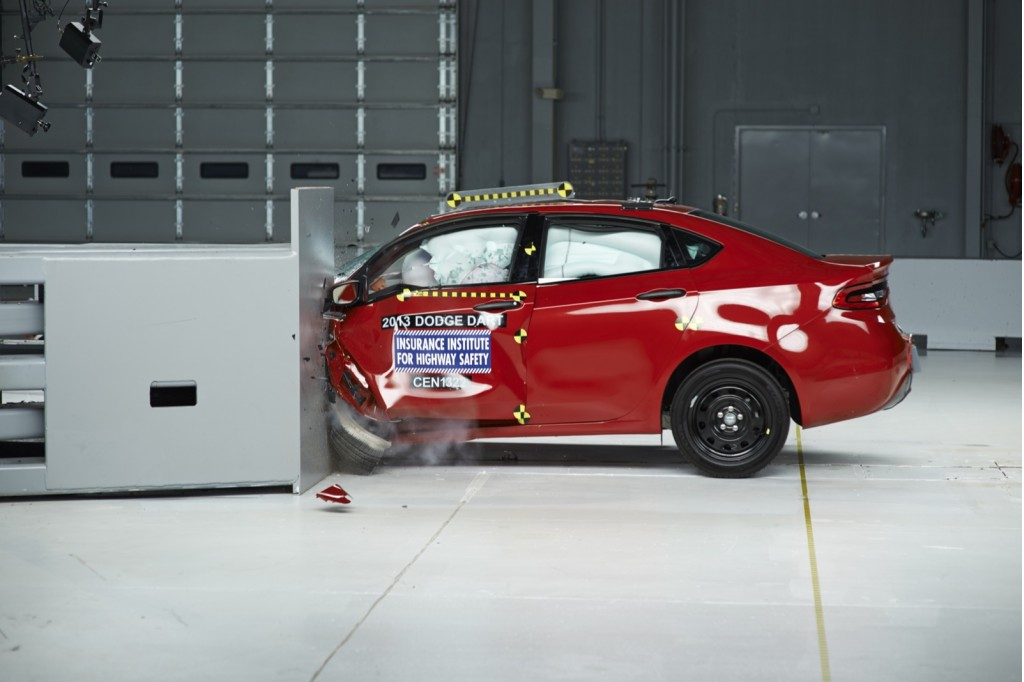 2013 Dodge Dart  -  rated ACCEPTABLE in IIHS small overlap frontal impact test