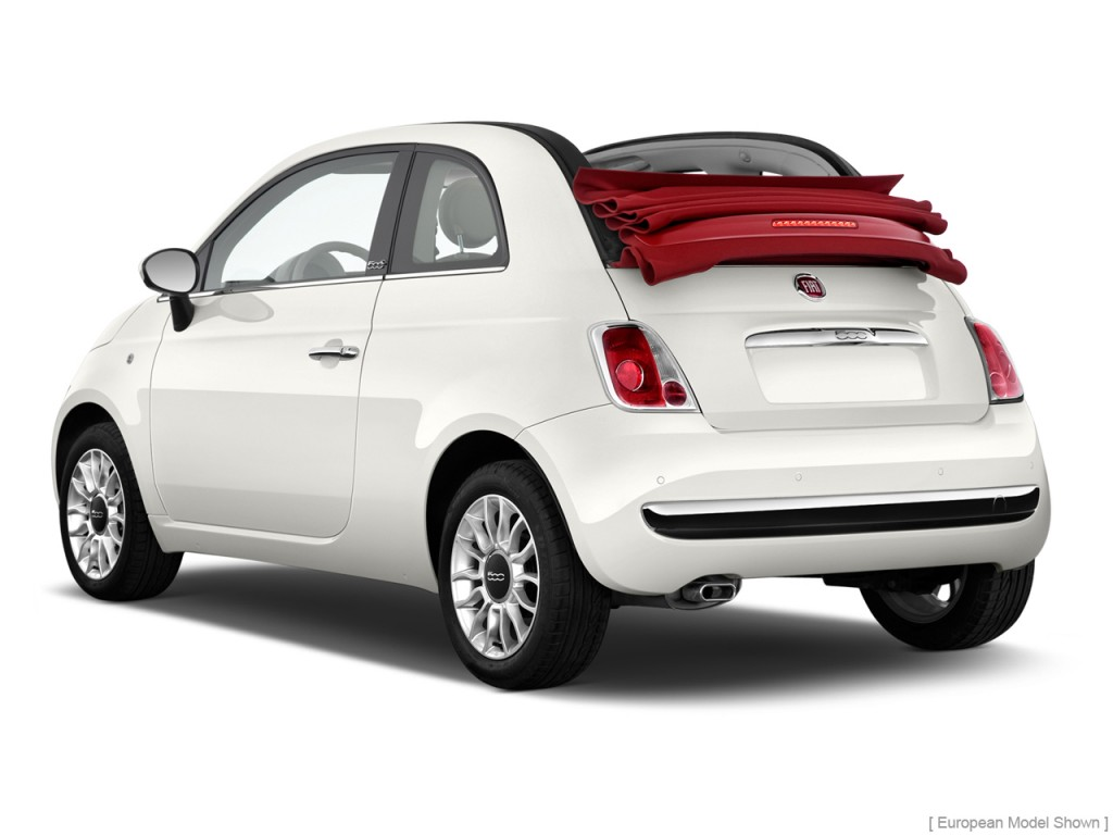 2013 FIAT 500 2-door Convertible Lounge Angular Rear Exterior View