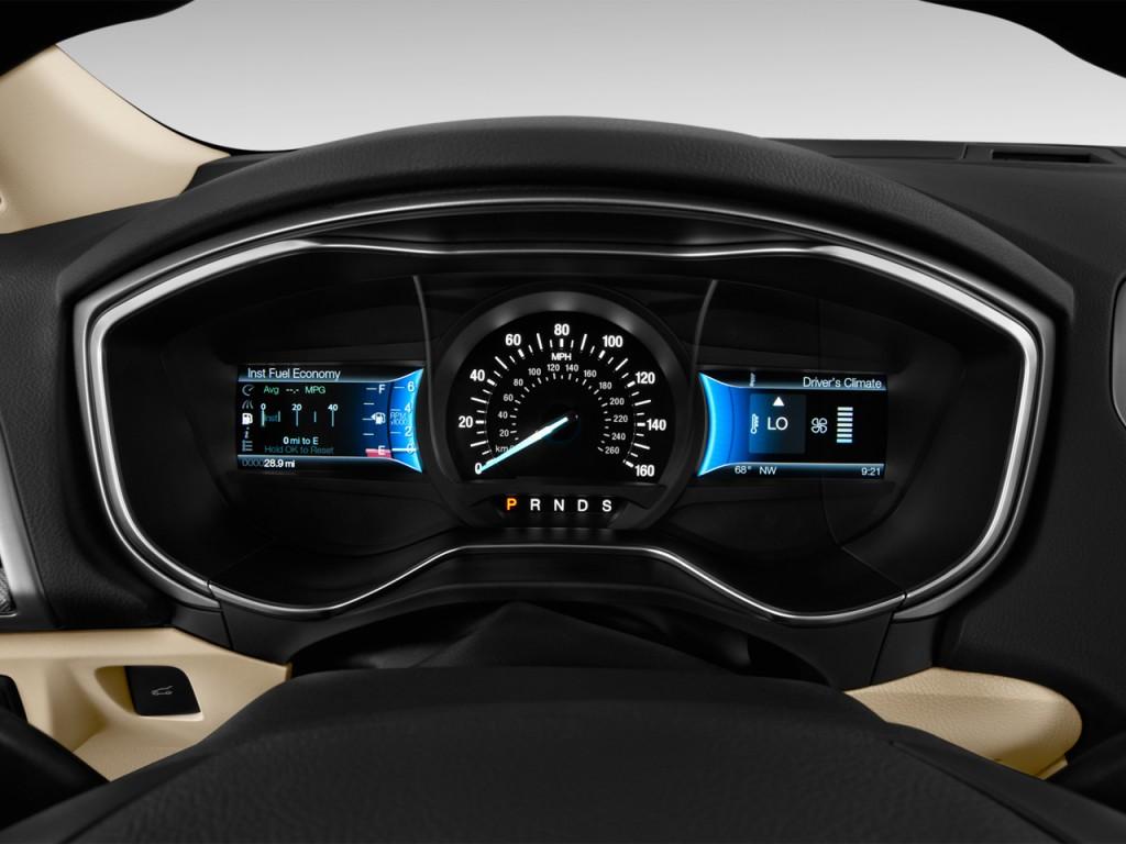 Image: 2013 Ford Fusion 4-door Sedan SE FWD Instrument Cluster, size ...