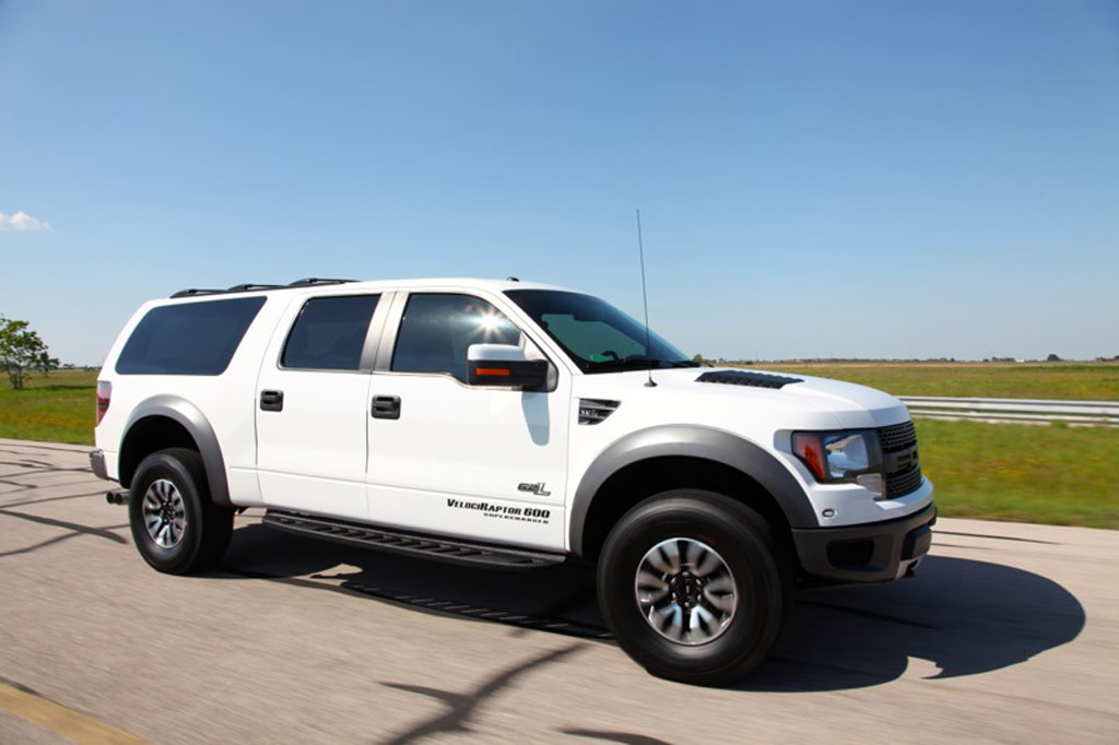 hennessey builds 600 horsepower f 150 svt raptor suv video