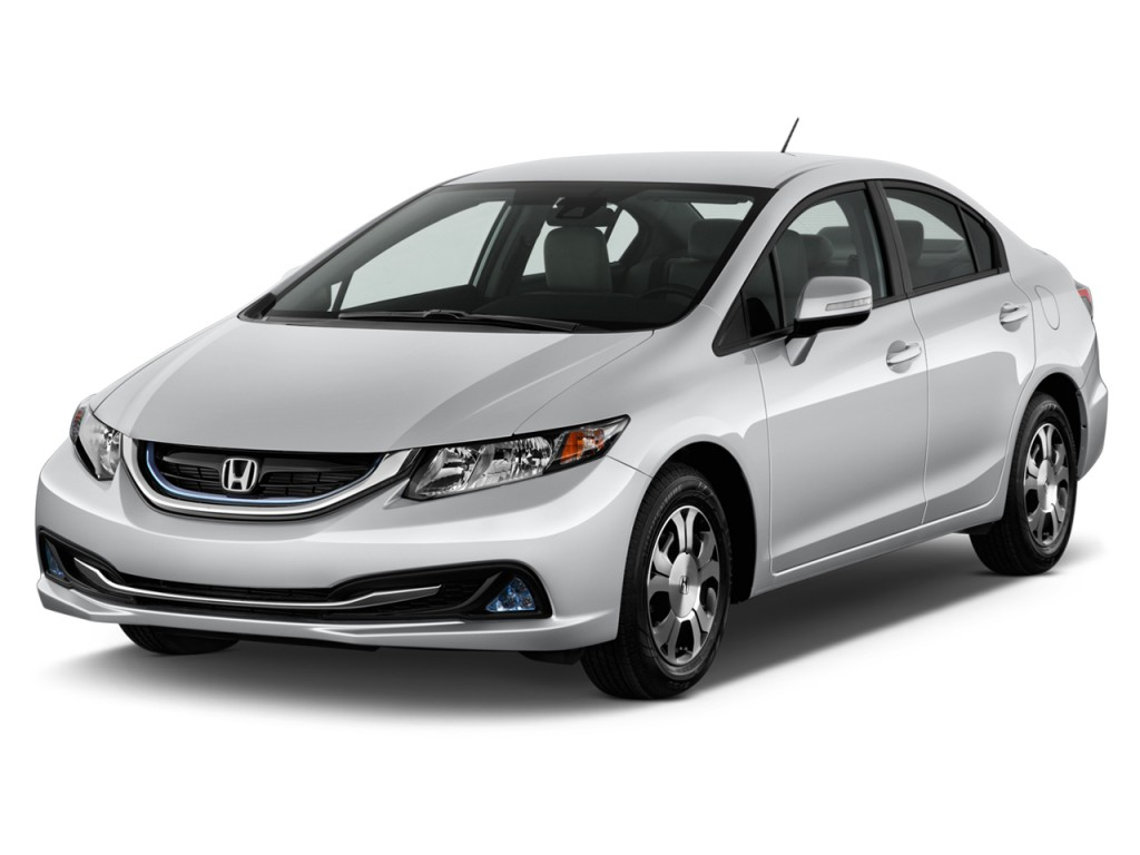 2013 Honda Civic Hybrid 4-door Sedan L4 CVT Angular Front Exterior View