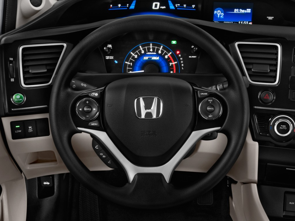 image 2013 honda civic hybrid 4 door sedan l4 cvt steering wheel size 1024 x 768 type gif. Black Bedroom Furniture Sets. Home Design Ideas