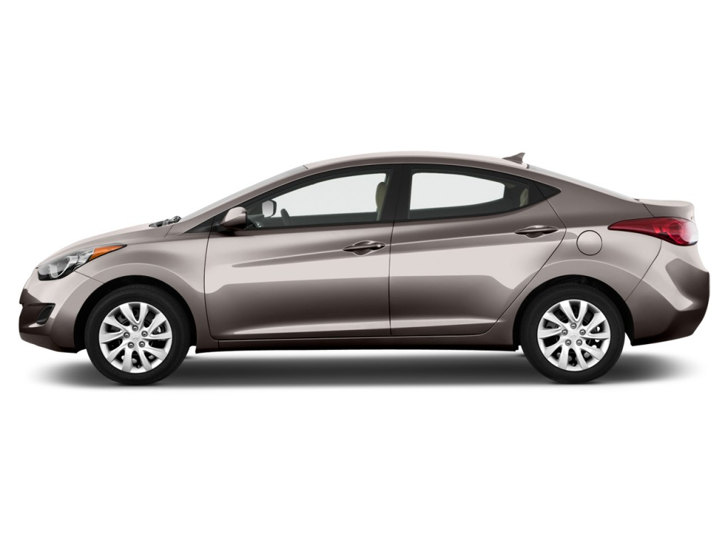 2013 Hyundai Elantra 4-door Sedan Auto GLS (Alabama Plant) Side Exterior View
