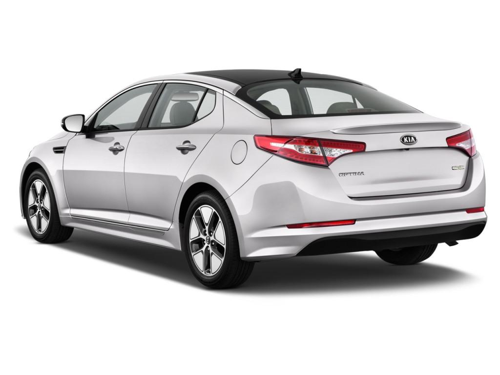 2013 kia optima hybrid 4 door sedan 2 4l auto lx angular rear exterior view