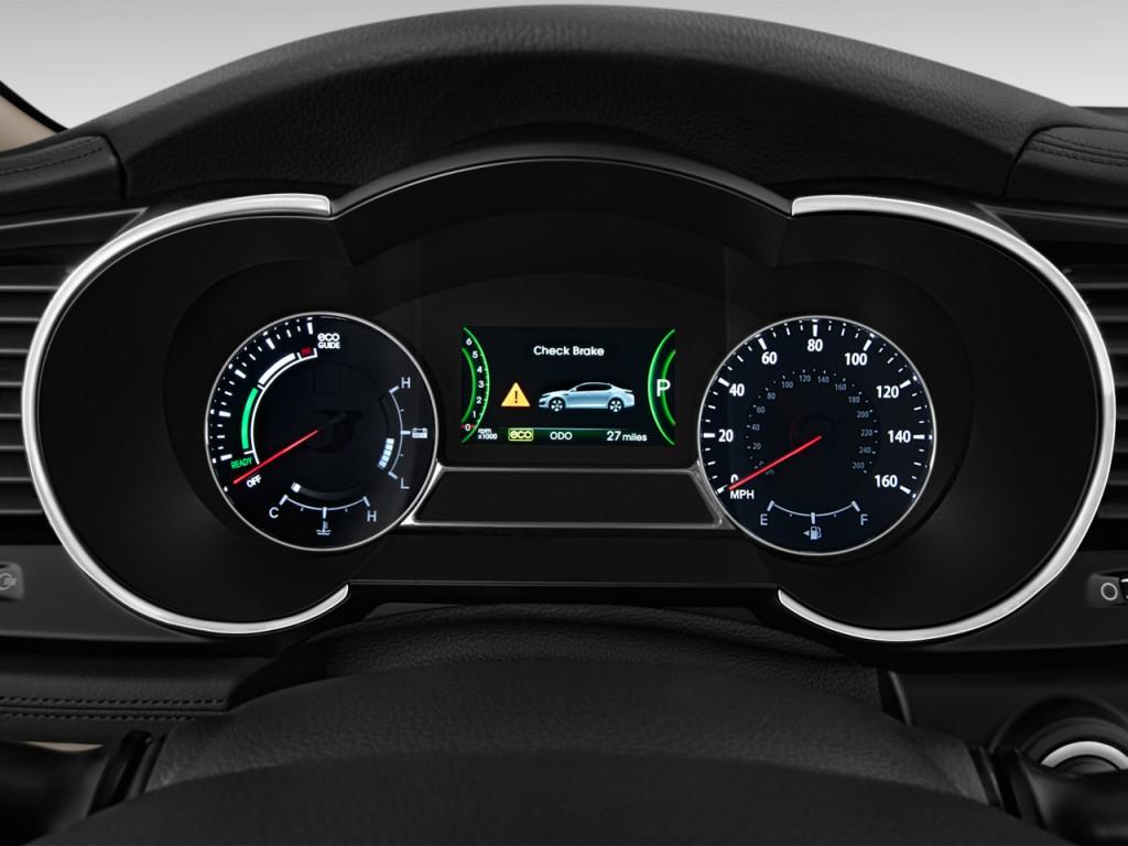 2013 kia optima hybrid 4 door sedan 2 4l auto lx instrument cluster
