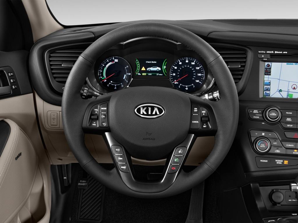 2013 kia optima hybrid 4 door sedan 2 4l auto lx steering wheel