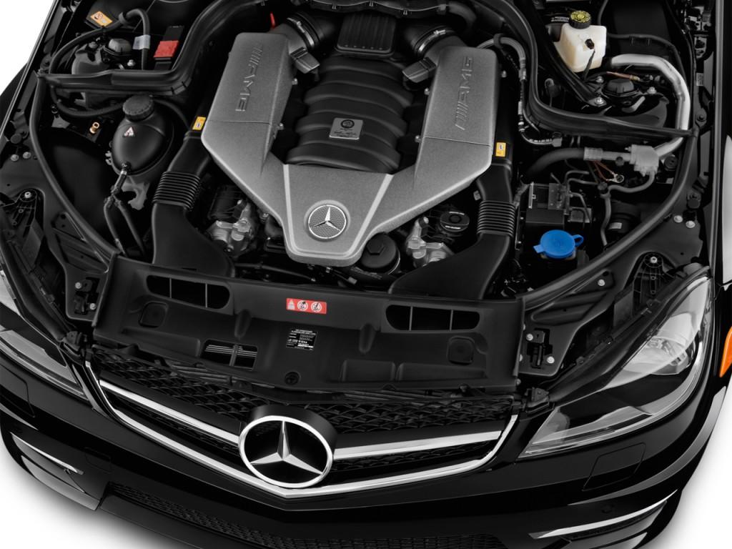 Image 2013 mercedes benz c class 4 door sedan c63 amg rwd for Mercedes benz c class engine
