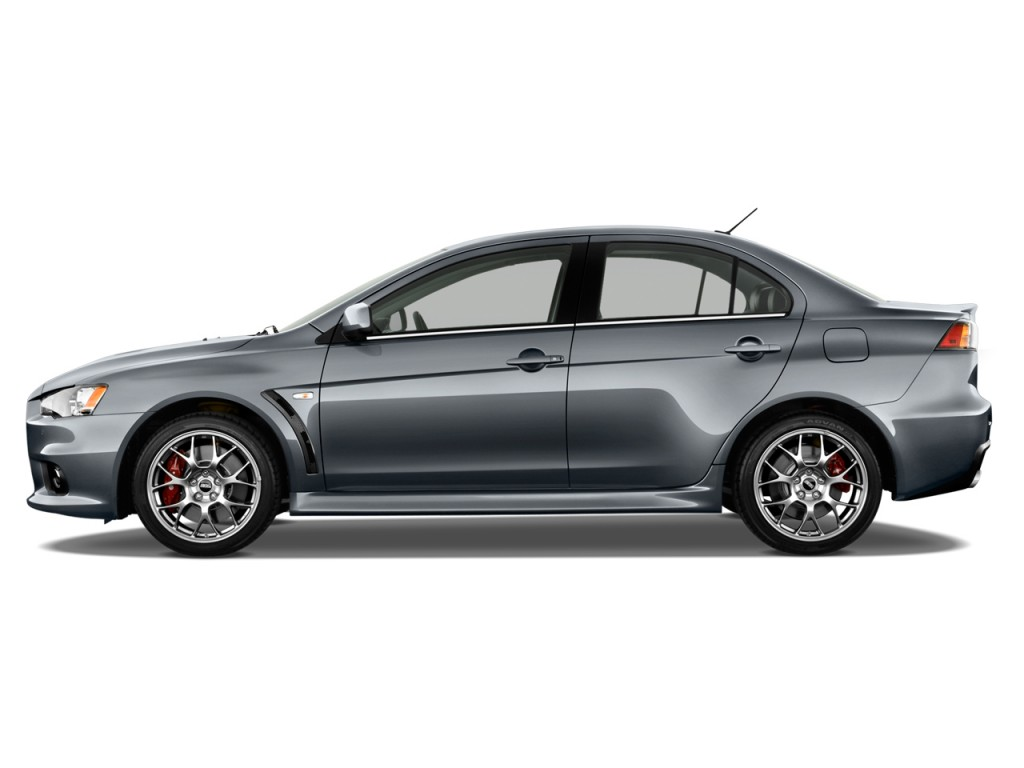 Image: 2013 Mitsubishi Lancer Evolution / Ralliart 4-door Sedan TC-SST MR Side Exterior View ...