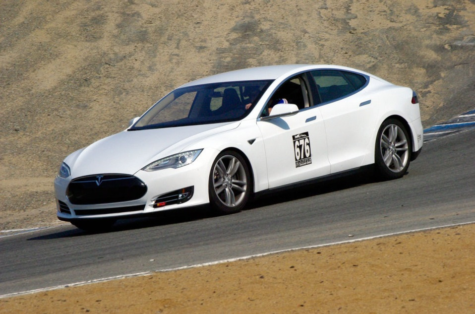 Tesla Model S Performance Plus at Laguna Seca, June 2013 [Domenick Yoney/AOL]