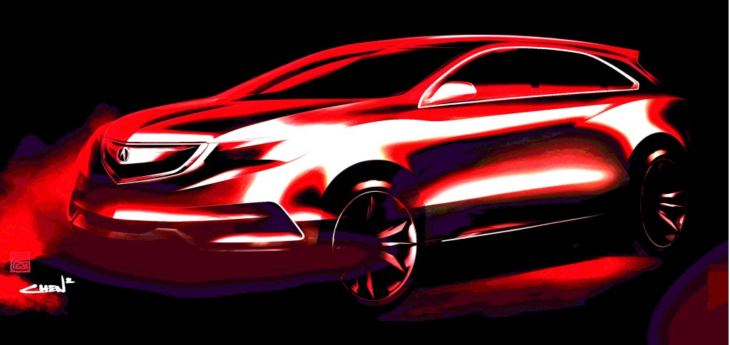 2014 Acura MDX Prototype teaser image (enhanced version)