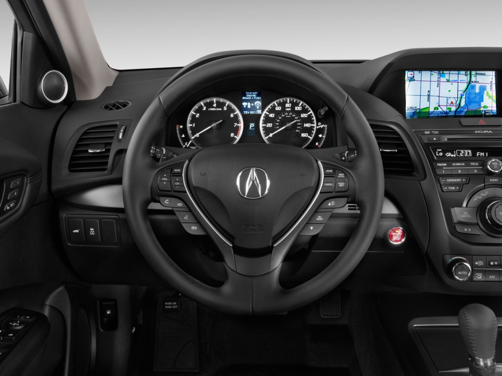 image 2014 acura rdx fwd 4 door tech pkg steering wheel. Black Bedroom Furniture Sets. Home Design Ideas