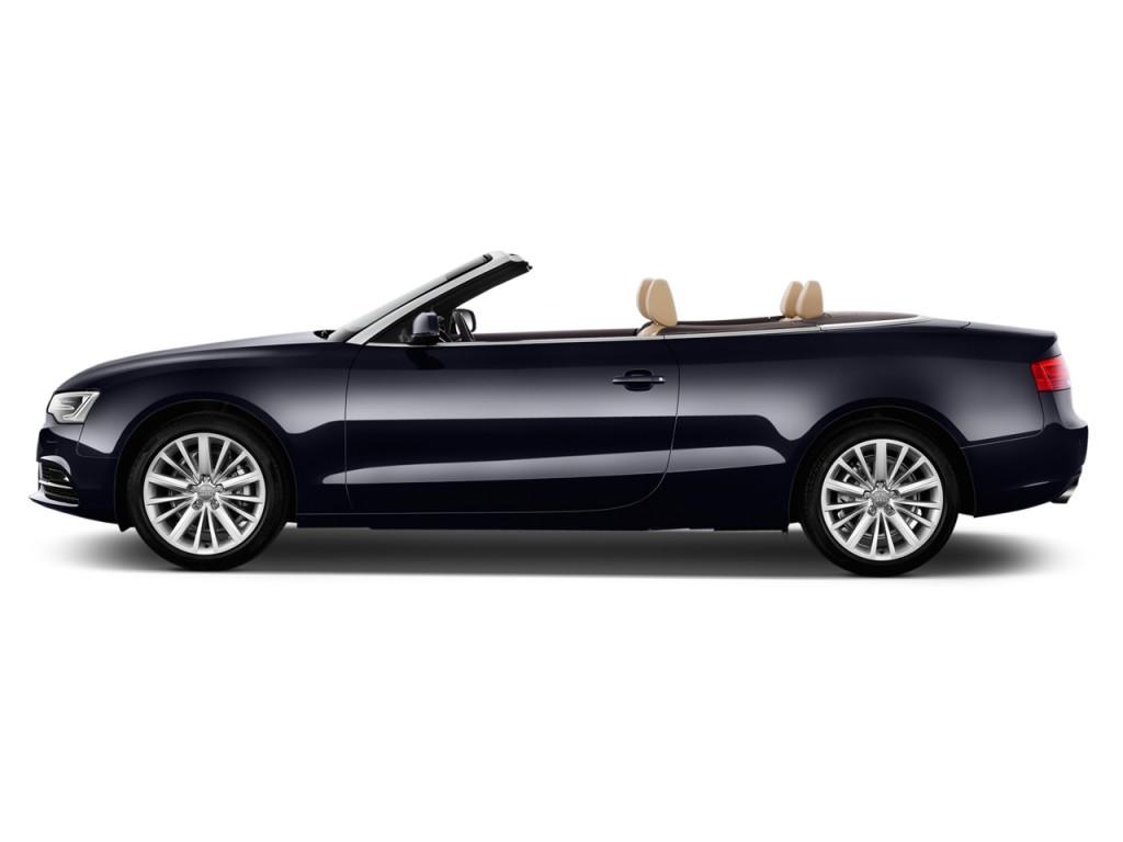 image 2014 audi a5 2 door cabriolet auto fronttrak 2 0t premium side exterior view size 1024. Black Bedroom Furniture Sets. Home Design Ideas