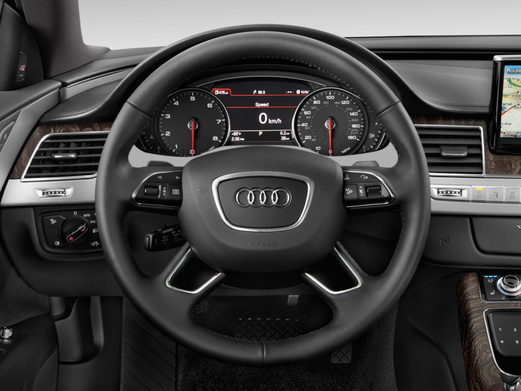 image 2014 audi a8 4 door sedan 3 0t steering wheel size. Black Bedroom Furniture Sets. Home Design Ideas