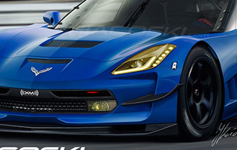 2014 Chevrolet Corvette C7.R Race Car Rendered