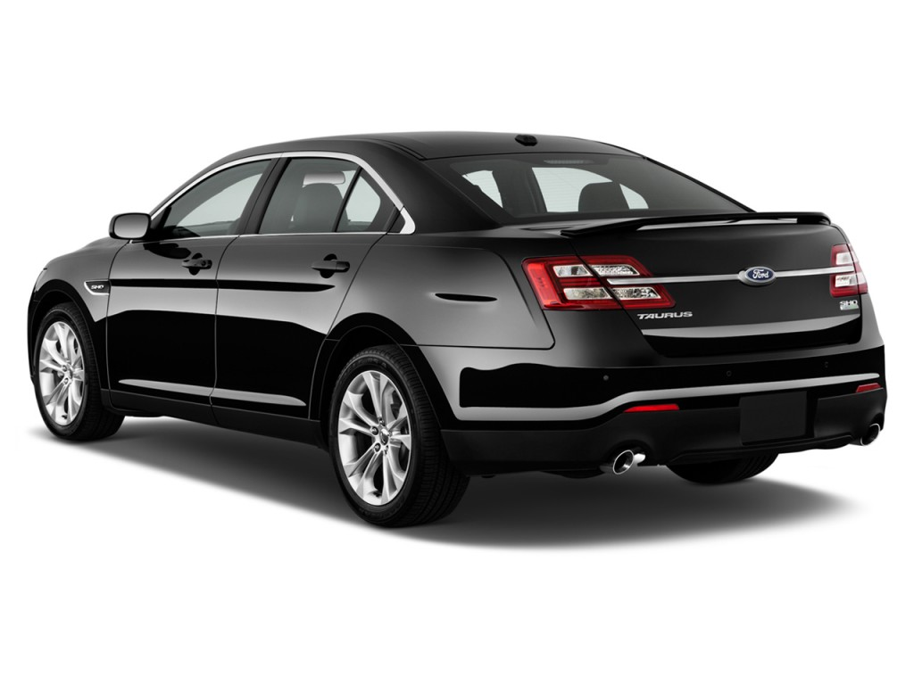 Image 2014 ford taurus 4 door sedan sho awd angular rear exterior view size 1024 x 768 type for 2014 ford fusion exterior dimensions
