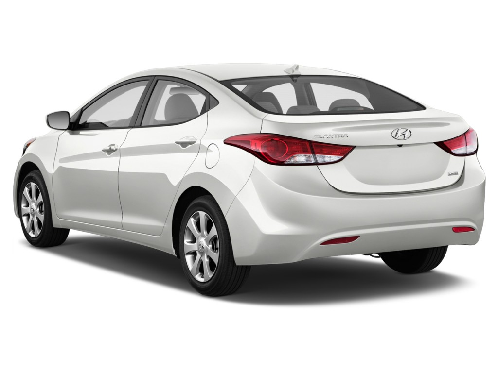 Image 2014 Hyundai Elantra 4 Door Sedan Auto Limited Alabama Plant Angular Rear Exterior View