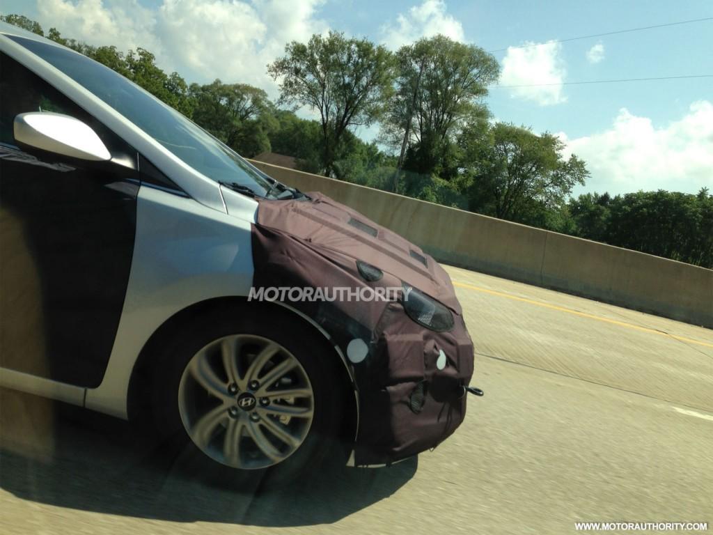 2014 Hyundai Elantra Sedan spy shots. Photos by Davis Adams.