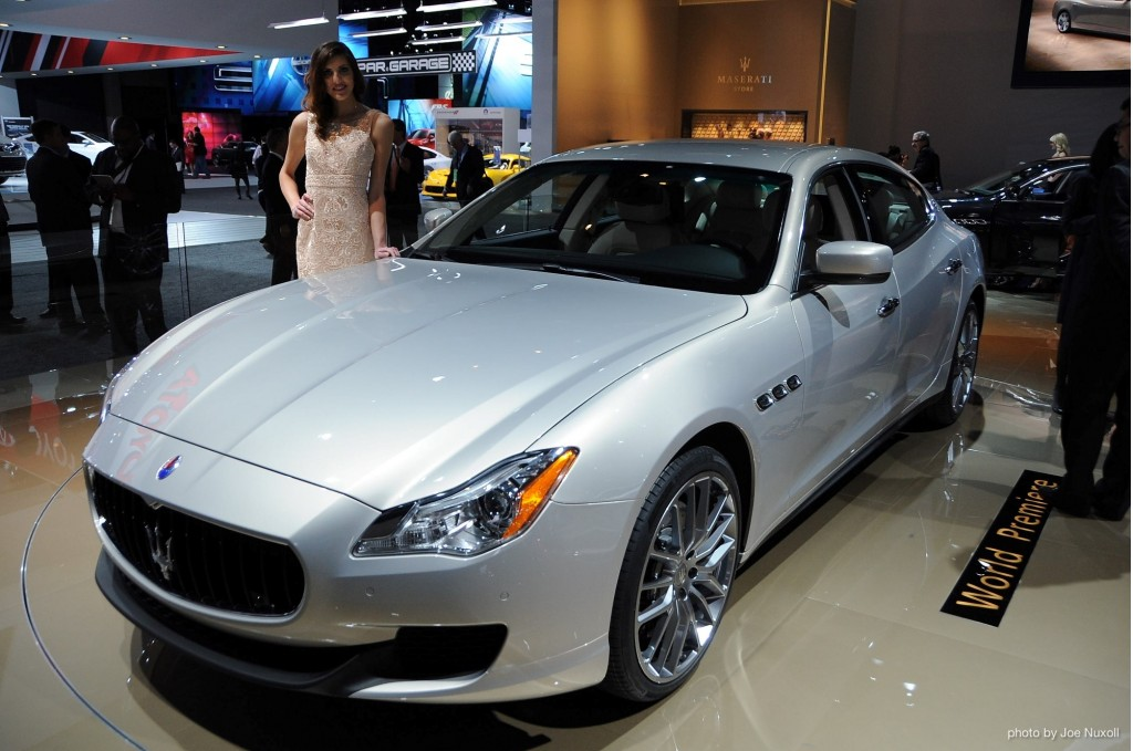 2014 Maserati Quattroporte live photos, 2013 Detroit Auto Show