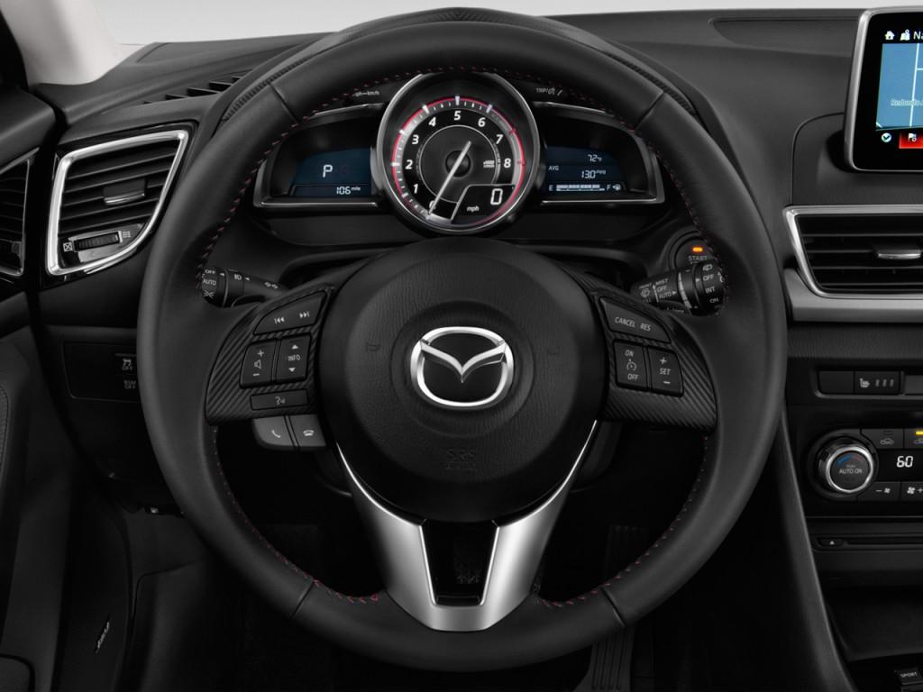 Ford Edge Gas Mileage >> Image: 2014 Mazda MAZDA3 5dr HB Auto i Grand Touring Steering Wheel, size: 1024 x 768, type: gif ...
