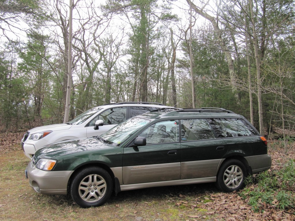 2014 Subaru Forester 2.0XT with 2000 Subaru Outback, Catskill Mountains, NY, May 2014