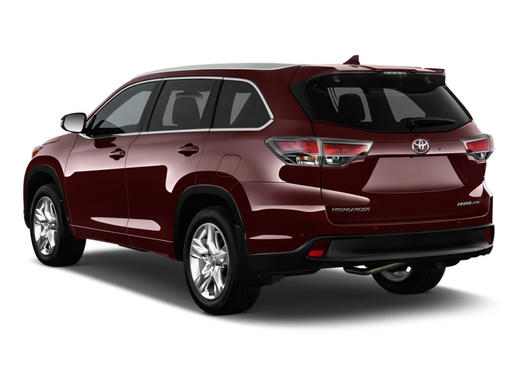 Image 2014 toyota highlander fwd 4 door v6 limited platinum natl angular rear exterior view Toyota highlander 2014 exterior