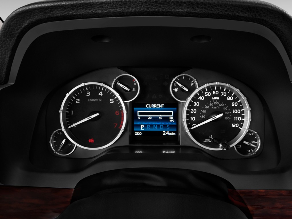 Image 2014 Toyota Tundra Instrument Cluster Size 1024 X