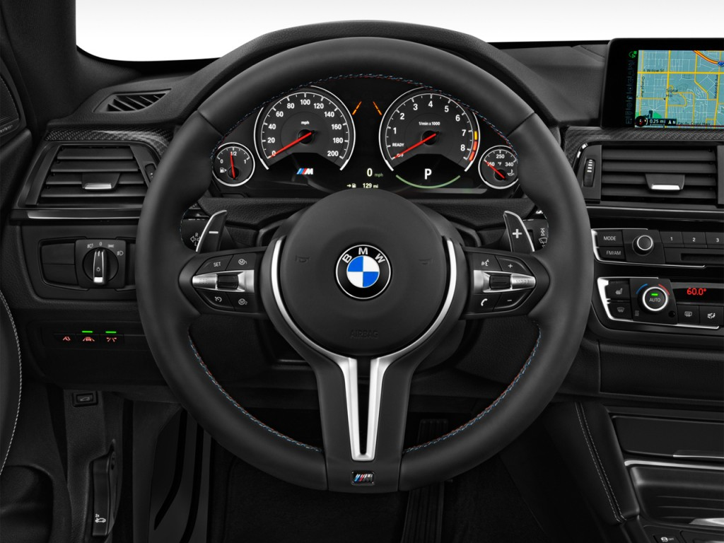 Image: 2015 BMW M4 2-door Coupe Steering Wheel, size: 1024 ...