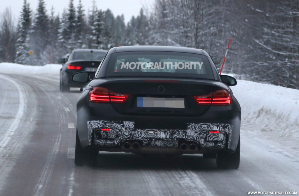 2015 BMW M4 Convertible spy shots