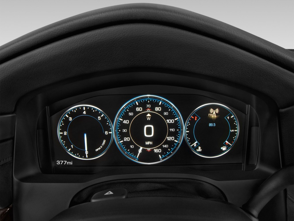 Cadillac Escalade Ext 2017 >> Image: 2015 Cadillac Escalade 4WD 4-door Platinum Instrument Cluster, size: 1024 x 768, type ...