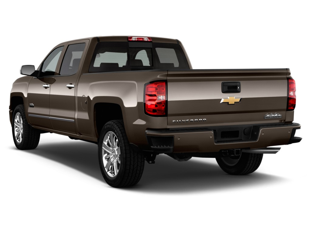 image 2015 chevrolet silverado 1500 2wd crew cab 143 5 high country angular rear exterior view. Black Bedroom Furniture Sets. Home Design Ideas