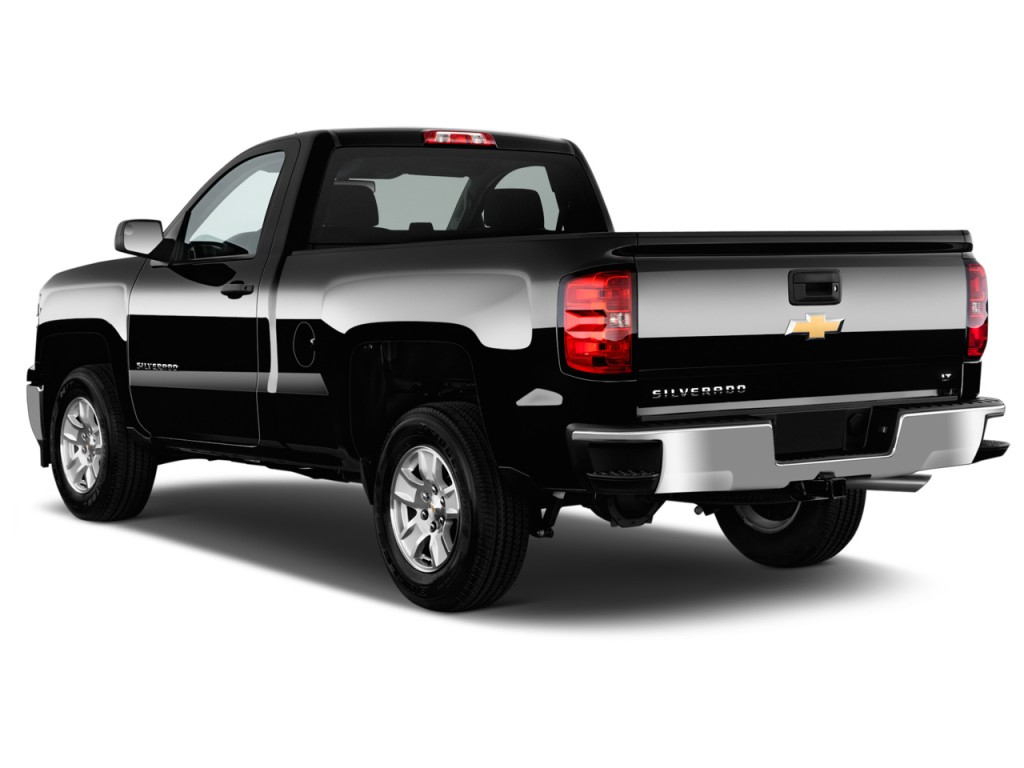 image 2015 chevrolet silverado 1500 2wd reg cab 119 0 lt w 1lt angular rear exterior view. Black Bedroom Furniture Sets. Home Design Ideas