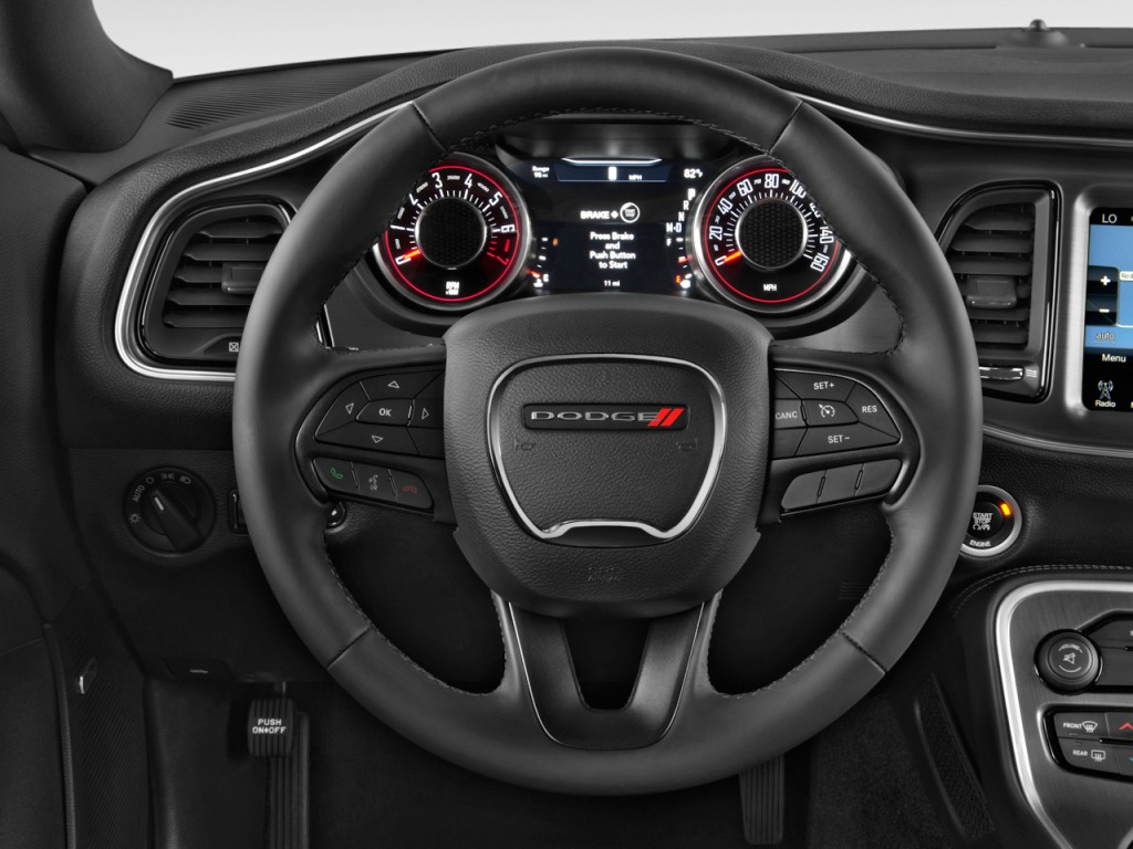 Dodge Ram 5500 >> Image: 2015 Dodge Challenger 2-door Coupe SXT Steering ...
