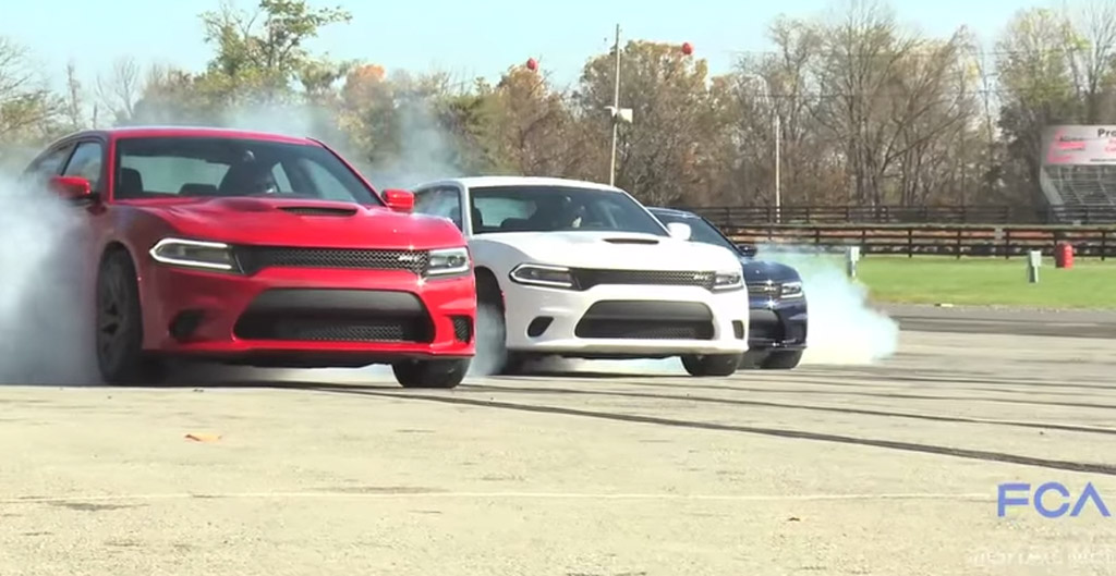 Dodge Rings In 2015 With A Hellcat Burnout Compilation: Video
