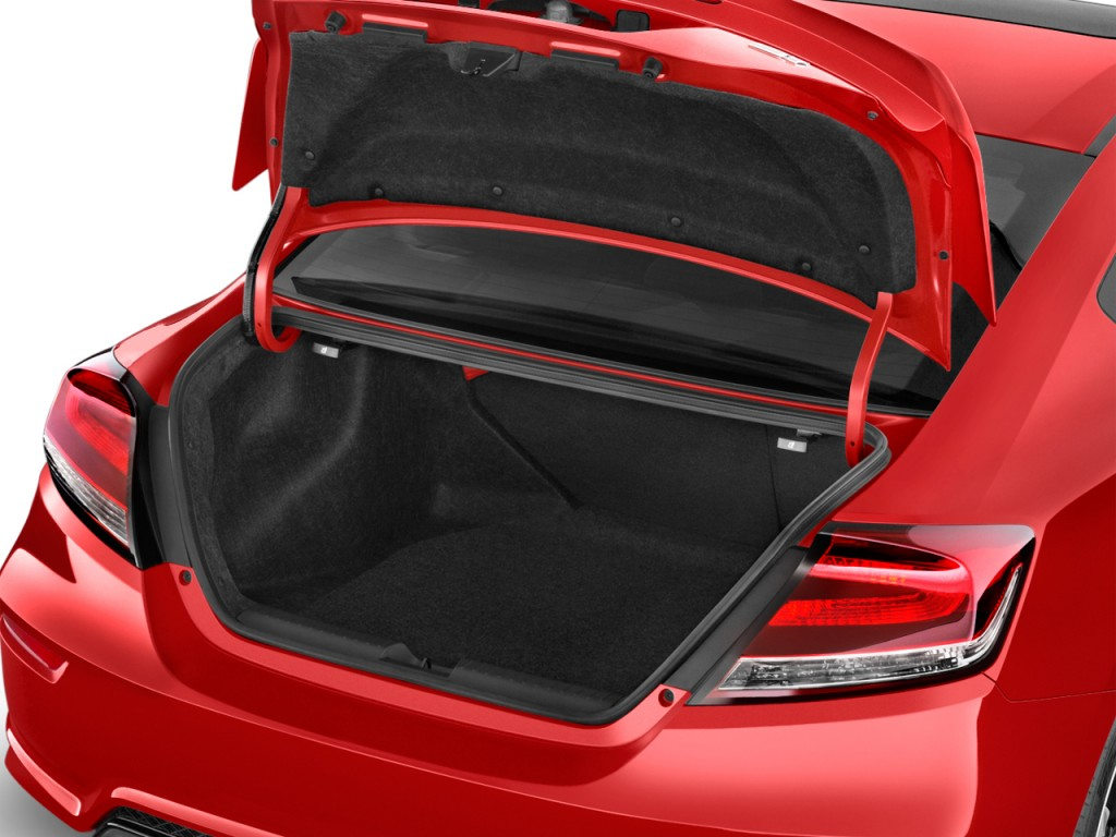 Image 2015 honda civic coupe 2 door man si trunk size for Honda civic trunk