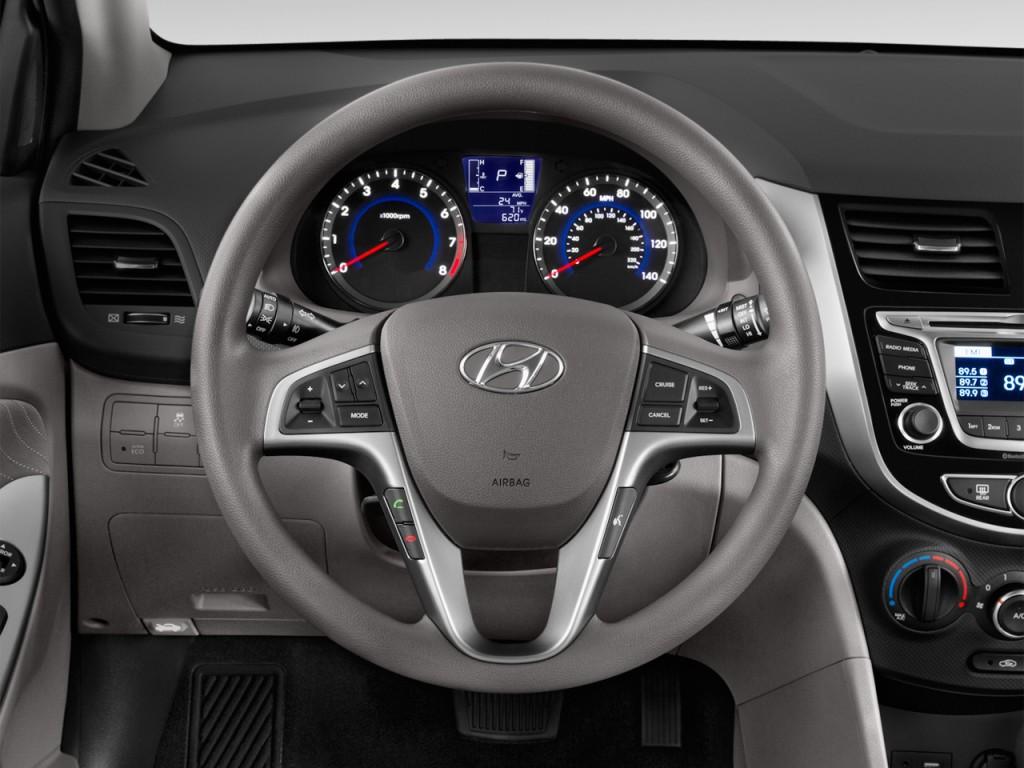image 2015 hyundai accent 4 door sedan auto gls steering wheel size 1024 x 768 type gif. Black Bedroom Furniture Sets. Home Design Ideas