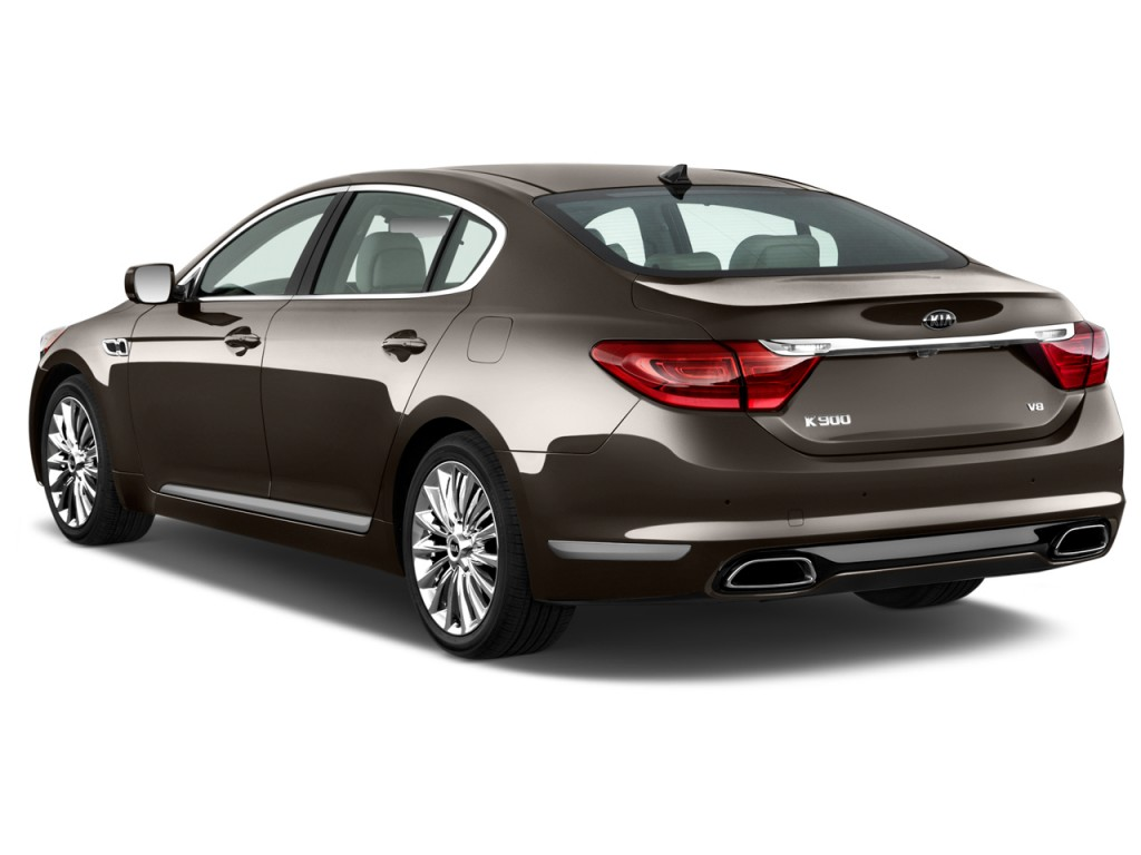 Image 2015 kia k900 4 door sedan angular rear exterior for Rear exterior door