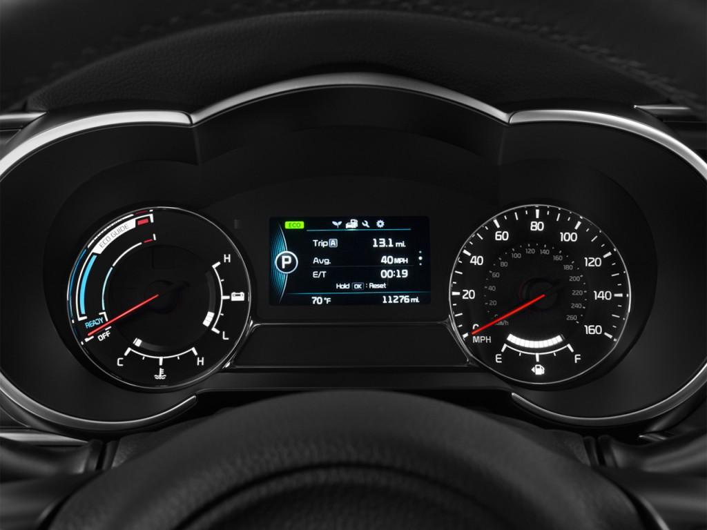 Image: 2015 Kia Optima Hybrid 4-door Sedan EX Instrument ...
