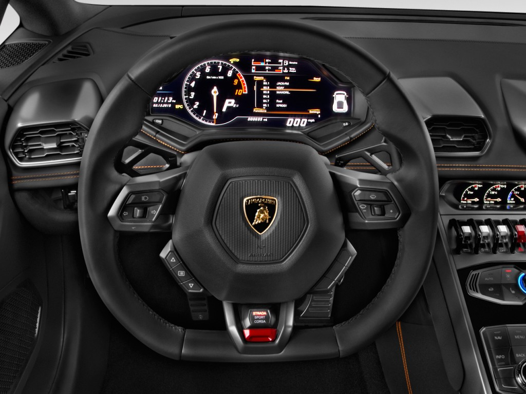 image 2015 lamborghini huracan 2 door coupe lp 610 4 steering wheel size 1024 x 768 type. Black Bedroom Furniture Sets. Home Design Ideas