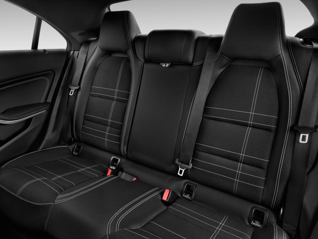image 2015 mercedes benz cla class 4 door sedan cla250 fwd rear seats size 1024 x 768 type. Black Bedroom Furniture Sets. Home Design Ideas