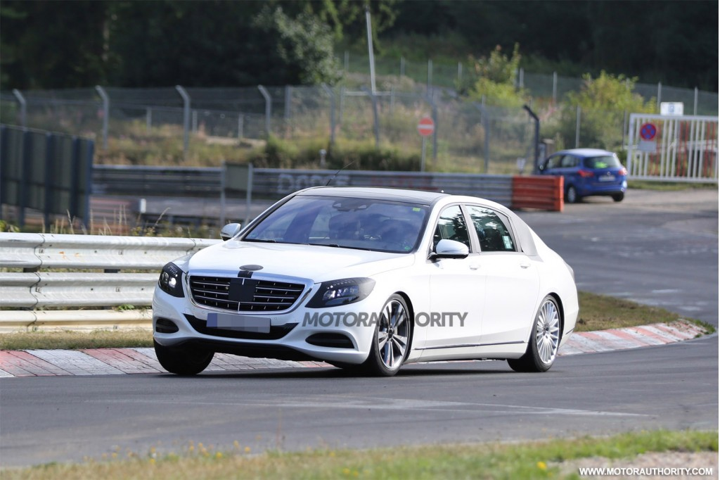 Mercedes-Maybach S-Class spy shots