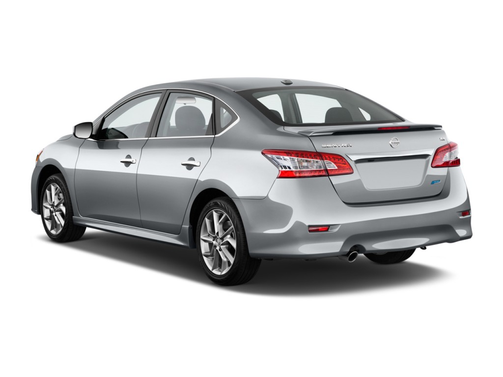 Image 2015 Nissan Sentra 4 Door Sedan I4 Cvt Sr Angular Rear Exterior View Size 1024 X 768