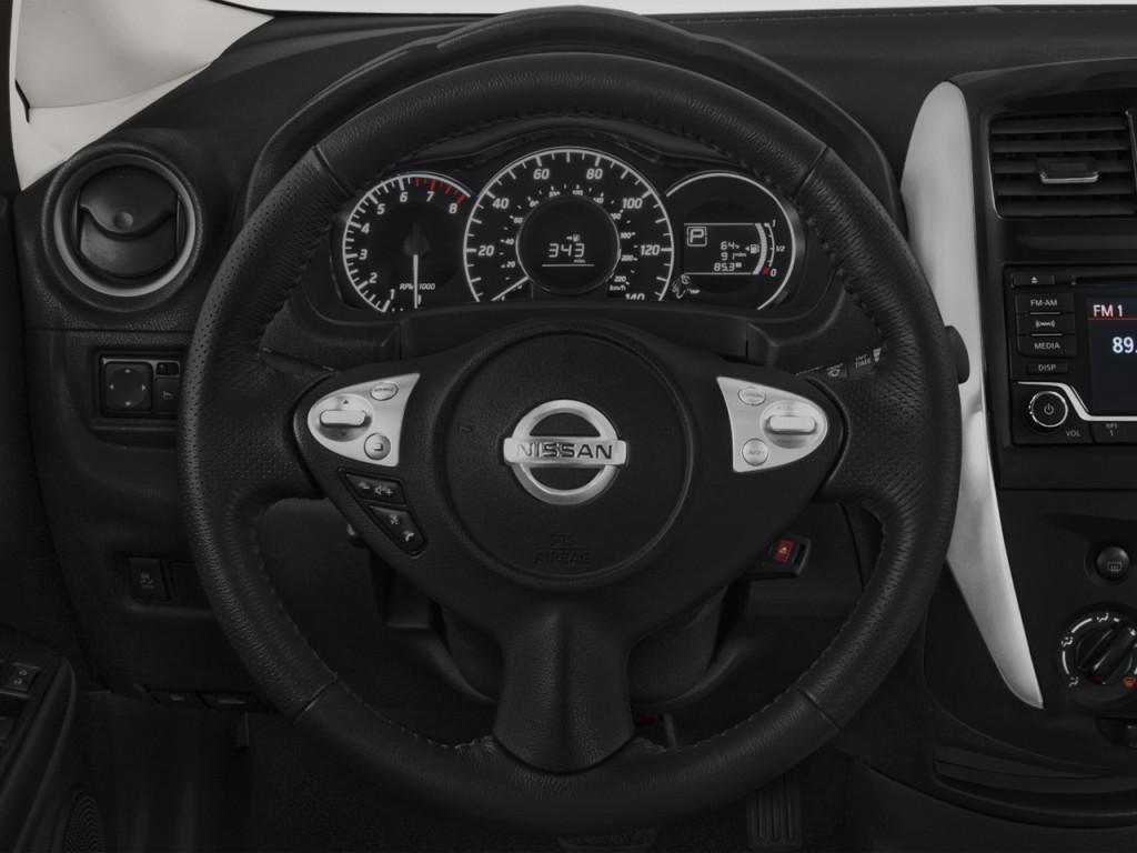 image 2015 nissan versa note 5dr hb cvt 1 6 sr ltd avail steering wheel size 1024 x 768. Black Bedroom Furniture Sets. Home Design Ideas
