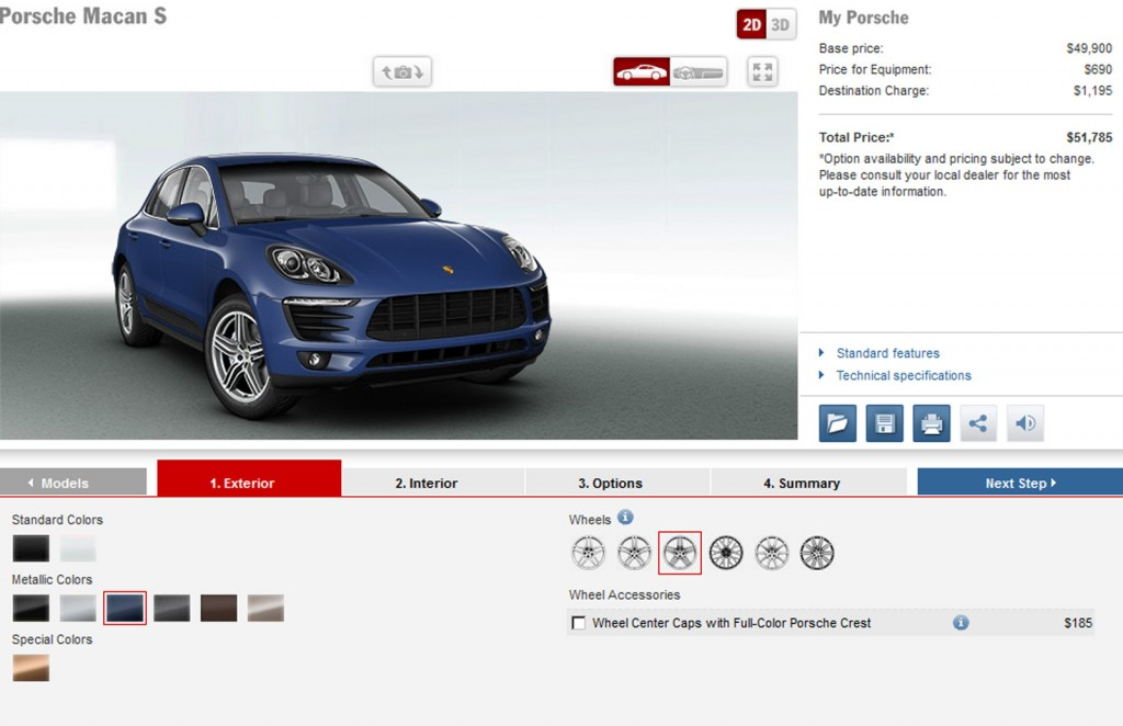 2015 Porsche Macan Pricing Revealed Via Configurator
