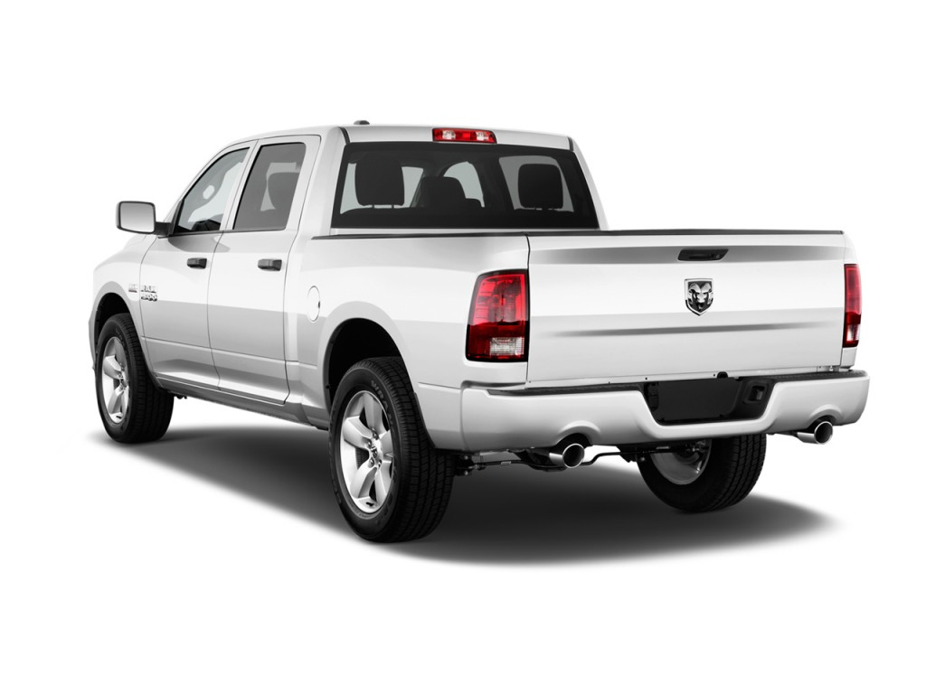 image 2015 ram 1500 4wd crew cab 140 5 express angular rear exterior view size 1024 x 768. Black Bedroom Furniture Sets. Home Design Ideas
