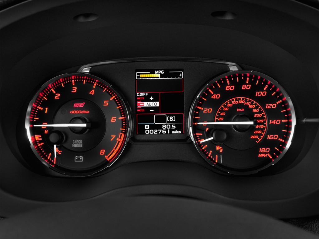 Image: 2015 Subaru WRX STI 4-door Sedan Instrument Cluster, size: 1024 ...