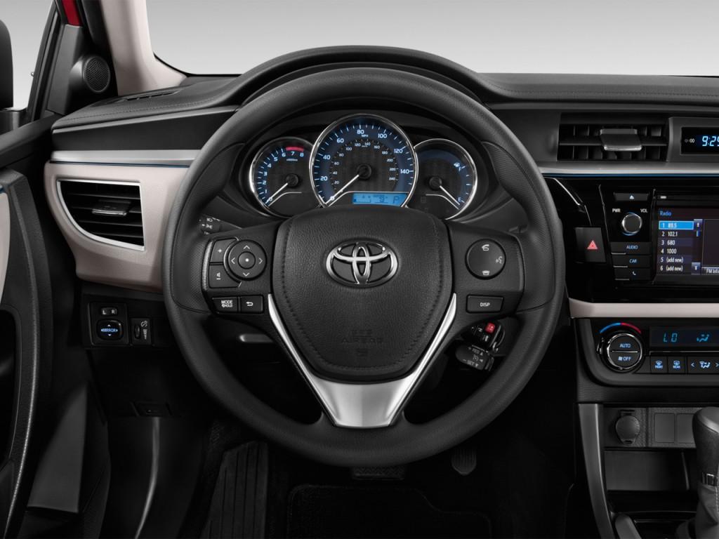 image 2015 toyota corolla 4 door sedan cvt le natl steering wheel size 1. Black Bedroom Furniture Sets. Home Design Ideas