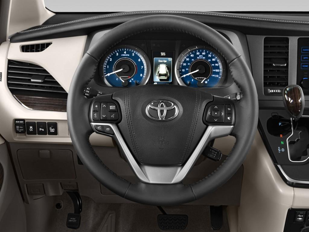 image 2015 toyota sienna 5dr 8 pass van xle fwd natl steering wheel size. Black Bedroom Furniture Sets. Home Design Ideas